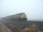 CSX Southbound on Youngstown Line Out of the Fog